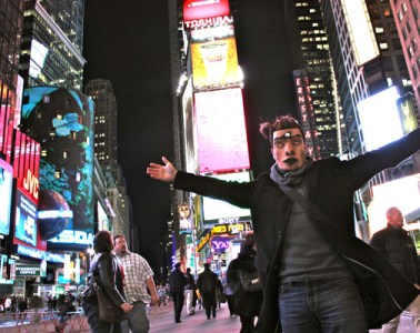 Rande Cook in Times Square