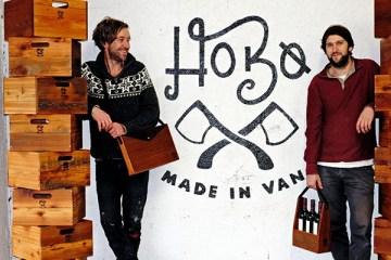 wooden-bag-by-hobo-woodworks-Hobo Founders Sam Clemens (left) and Lenny Hopkins
