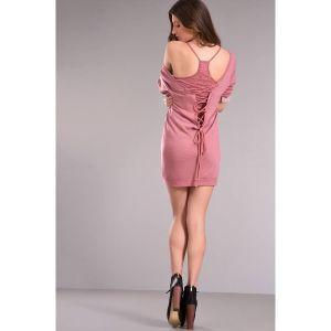 Φόρεμα ανοικτή πλάτη με μπλούζα_02