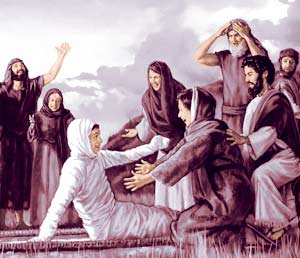 Watchtower illustration - resurrection of Widow's son