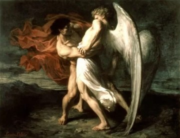 Jacob wrestles with an angel