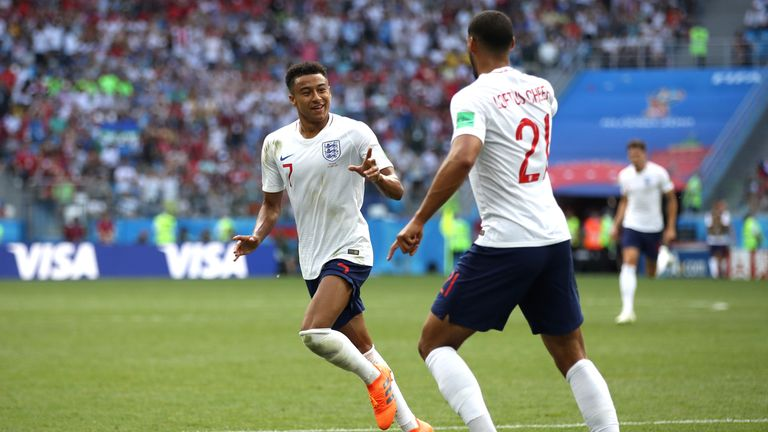 Jesse Lingard says England will be 100 per cent ready for Belgium     Jesse Lingard celebrates his goal against Panama