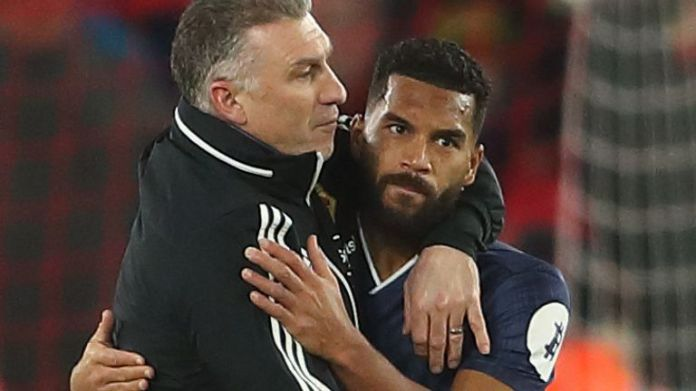 Nigel Pearson and Adrian Mariappa