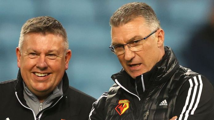 Assistant Manager Craig Shakespeare (left) has also left Watford alongside Nigel Pearson