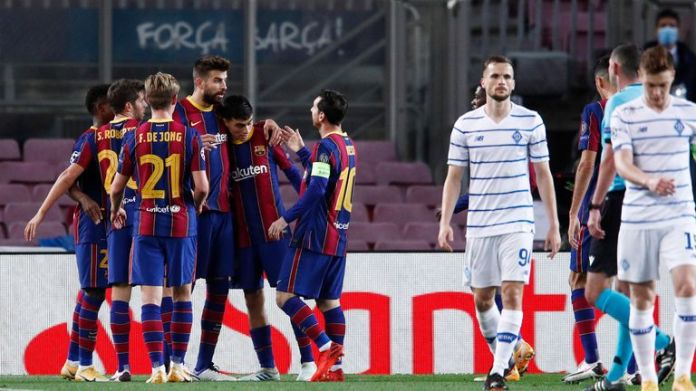 Barcelona maintained their perfect start in the Champions League