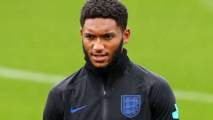 Joe Gomez training with England