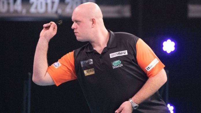 Michael van Gerwen suffered a back injury that could rule him out of the Winter Series this week