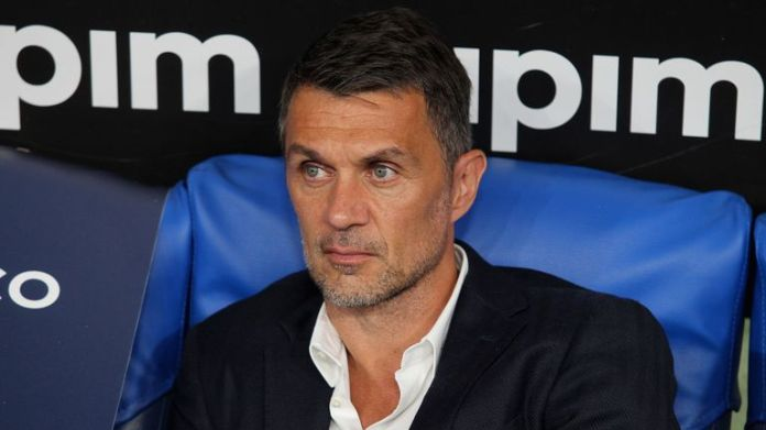 Paolo Maldini during the Serie A match between SS Lazio and AC Milan at Stadio Olimpico on July 4, 2020 in Rome, Italy.