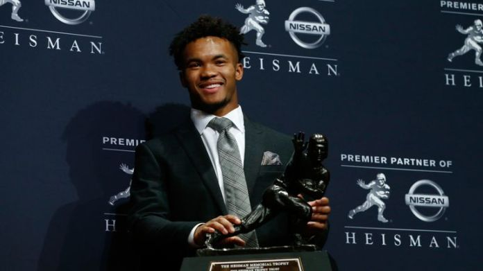 Cardinals quarterback Kyler Murray pipped Tua Tagovailoa to the 2018 Heisman Trophy in 2018