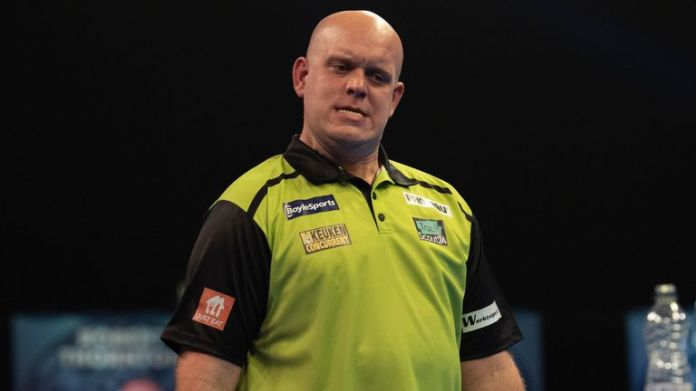 Michael van Gerwen admitted to being caught up in an exchange with Jonathan Worsley