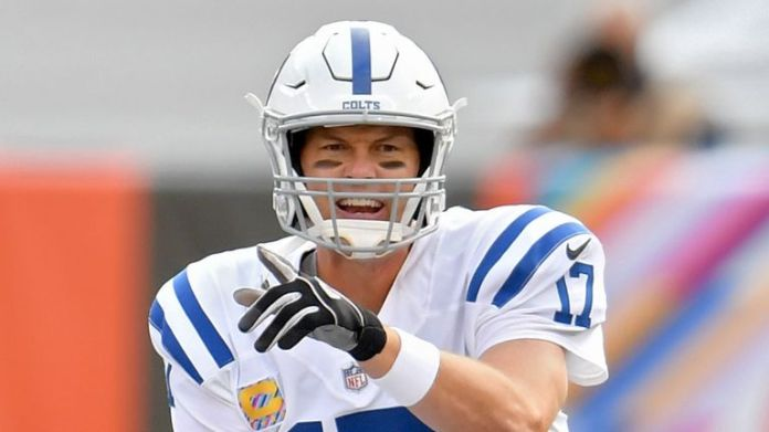 Philip Rivers has thrown 10 touchdowns to seven interceptions through eight games for the Colts this season