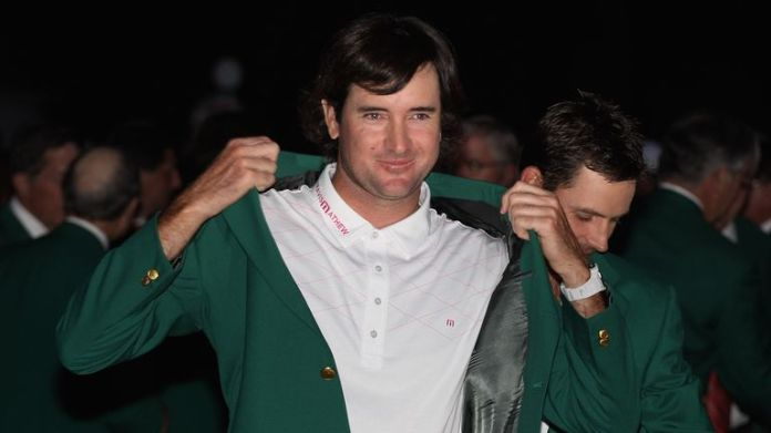 Watson dons the Green Jacket after his victory