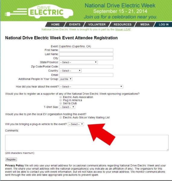 National Drive Electric Week Registration Page
