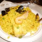 Paella de frutos do mar em Zaragoza
