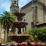 Fonte do Amor e a igreja de São Pedro - Gramado