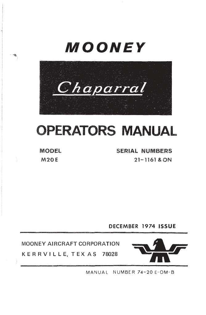 Continental Operators Manual TSIO-520-L & LB WB X30505