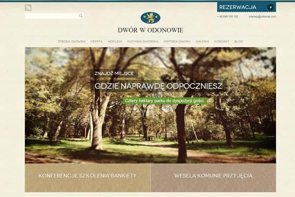 Dwor Odonow - website design