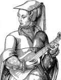 A French 4 course renaissance guitar from c. 1570.