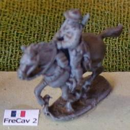 1 x Line Cavalry trooper mounted with hands on reins