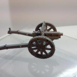 2 X Ansaldo 75mm Howitzers with instructions and accessories