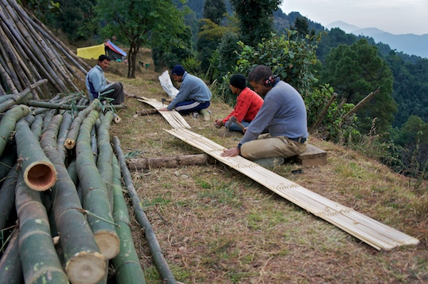 Splitting bamboo chachra