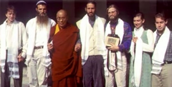 HH Dalai Lama with Earthville Group