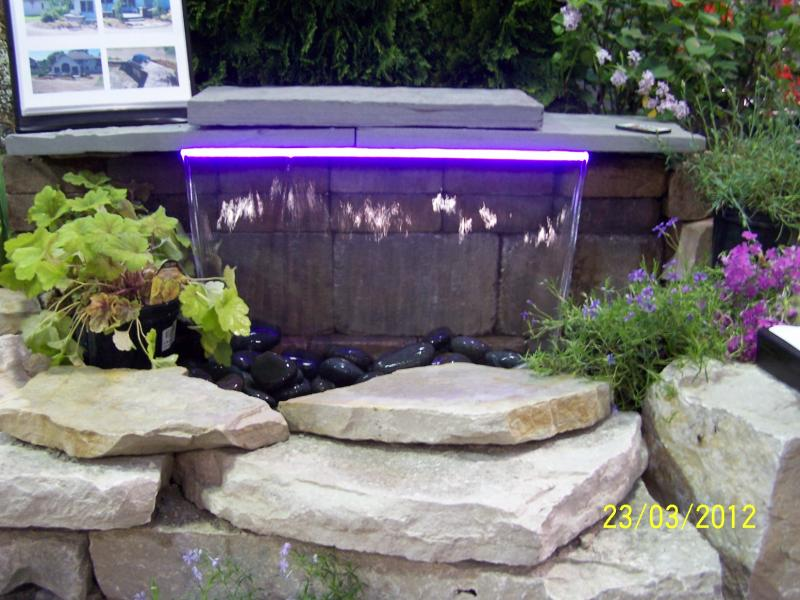 Lighted Water Feature