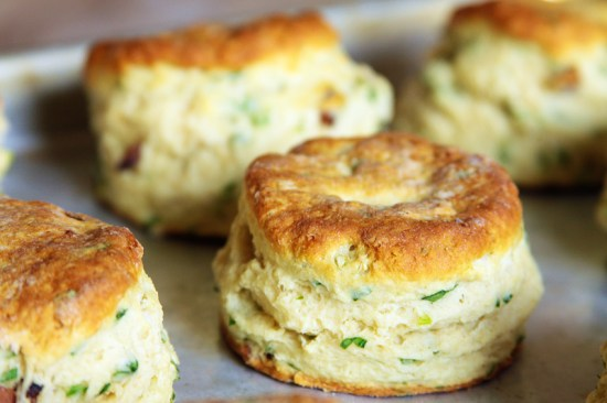 Tall, flaky biscuits, fresh from the oven