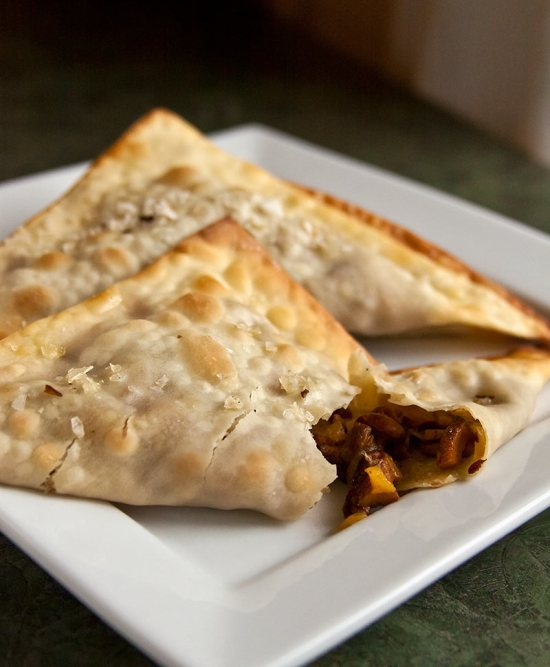Crispy Chanterelle Confit Turnovers