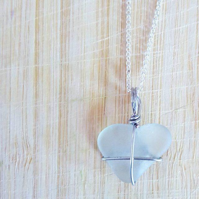 beach glass heart