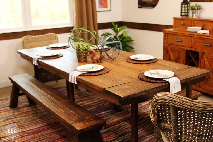 ikea hack build a farmhouse table the easy way two seat kitchen table Build Your Own Farmhouse Table Farmhouse dining table