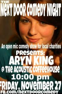 Sam Rucker set up the open-mic night at the Acoustic Coffeehouse for local charity
