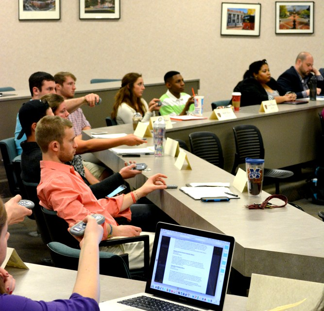 The ETSU Student Government Association Senate passed a resolution Tuesday to renovate the D.P. Culp University Center. The resolution called for the creation of a new $145 per semester fee to pay for the project.  (Photograph by Lorien Myerson/East Tennessean)