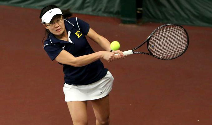 The ETSU women's tennis team was victorious against the University of Akron Feb. 28. The Bucs came out on top with a 6-1 victory, leading the team to their next game against Winthrop in Rock Hill, South Carolina. (Photograph Courtesy of ETSU Athletics)