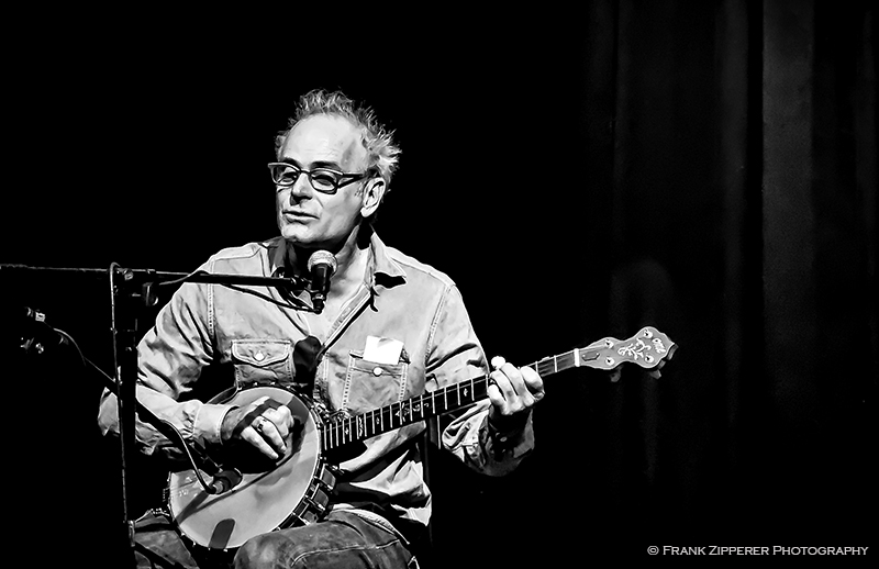 Bluegrass and country music music artist Ed Snodderly playing the banjo. (Photograph by Frank Zipperer Photography)