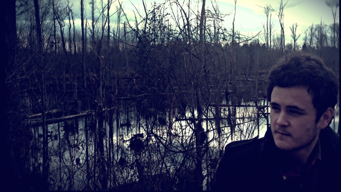 """Hunter Grigg on the cover of his EP titled """"This Cold and Fearsome Wild."""" (Contributed)"""
