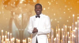 Chris Rock delivers the opening monologue at the 88th Academy Awards. (Contributed)