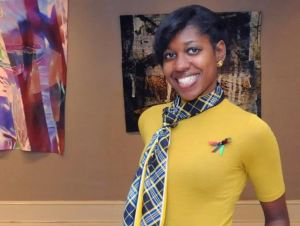 Senior anthropology major, Kreneshia Whiteside hopes to continue curating exhibits of contemporary art after graduation. (Contributed)