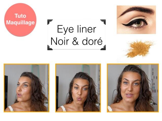 eye liner noir et doré.001