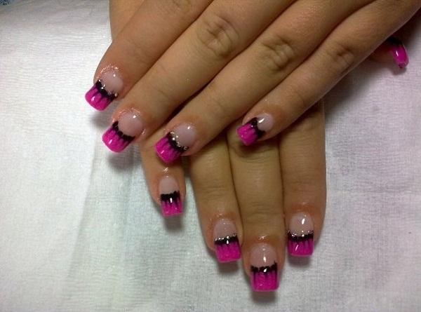 french nail tip art