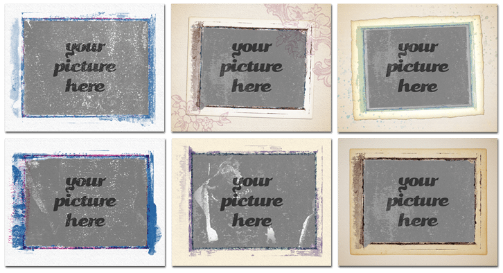 polaroid transfer frames layered photoshop templates