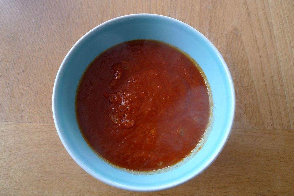Tomato soup. Beware - it's hot.