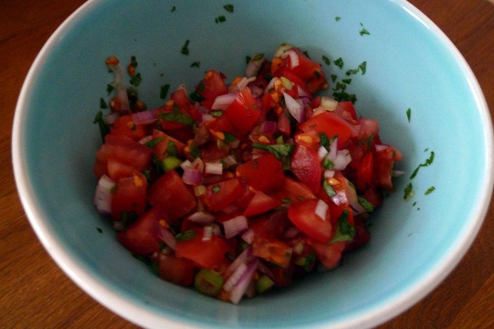 Pico de gallo - like salsa, only chunkier.