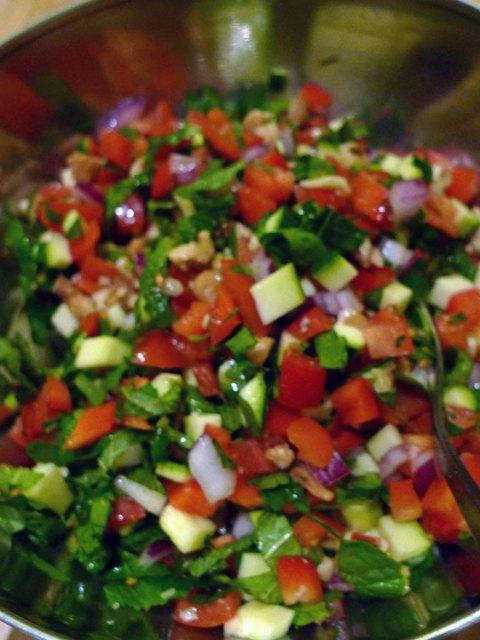 Turkish spoon salad is healthy and crunchy.