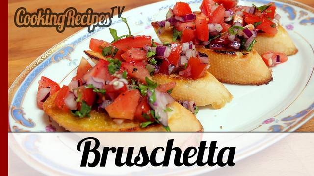 Bruschetta (Tasty Italian Appetizer) Recipe (VIDEO)