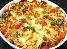 Baked Veggies With Traditional Italian Mozzarella Cheese Recipe