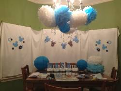 Relaxing Mickey Mouse Baby Shower Poms Mickey Mouse Baby Shower Making Mickey Mouse Inspired Baby Shower Easy Peasy Pleasy Baby Shower Backdrop Ideas Baby Shower Backdrop Hire