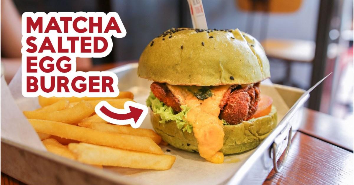 Black Tongue Bistro & Bar Review: Matcha And Charcoal Burgers At Beach Road