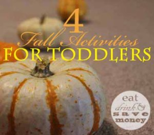Four fall activities for toddlers