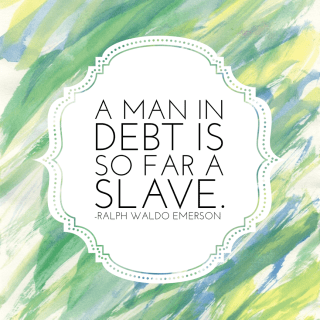 A man in debt quote